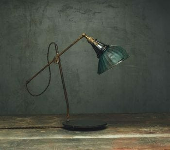 mercury glass x-ray shade desk lamp