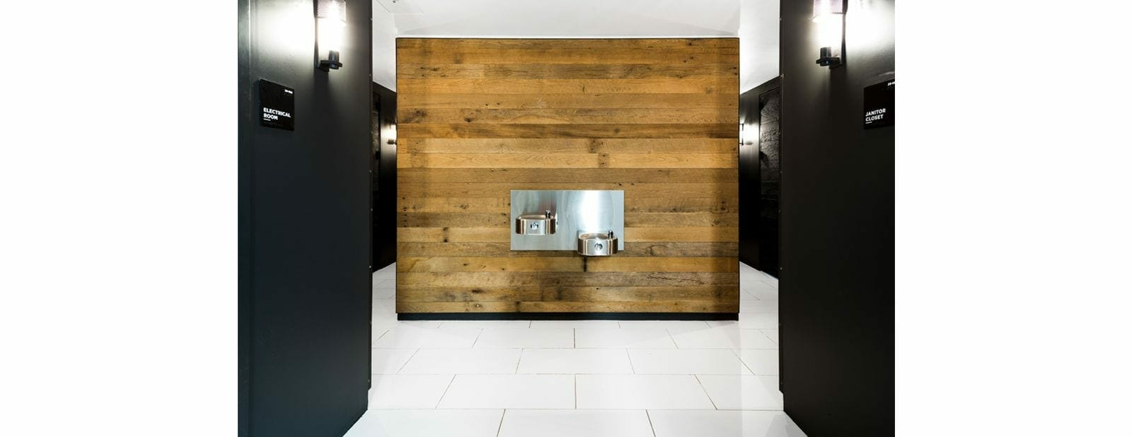 empire office reclaimed wood paneling