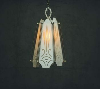 etched art deco light