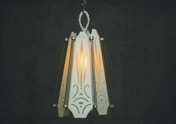 etched art deco-light
