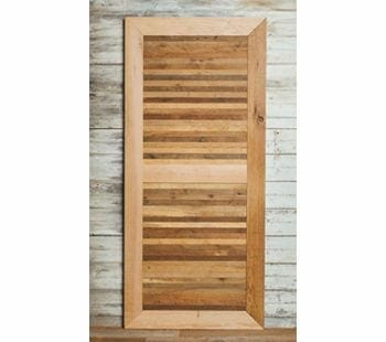 narrow antique oak skins barn door
