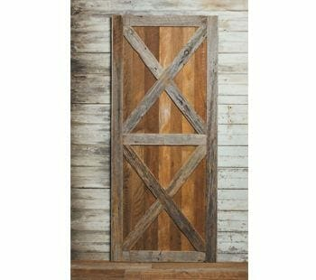 old face grey oak and sawn oak barn door 1