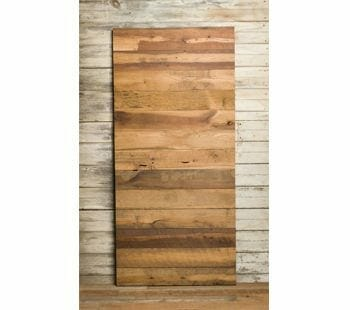 old face mixed hardwood barn-door