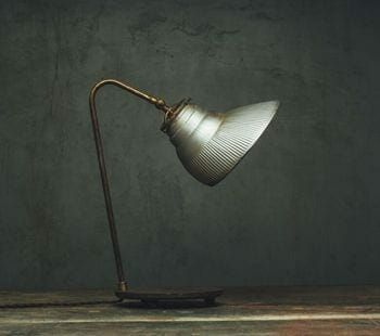 silver mercury glass x-ray shade desk lamp