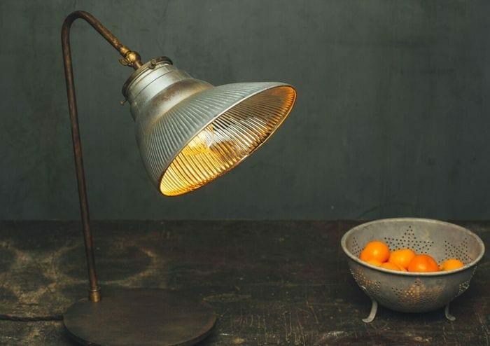 silver xray reflector mercury glass desk lamp