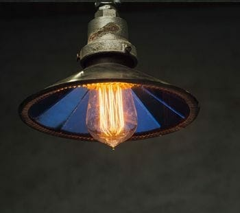 vintage mirrored reflector pendant