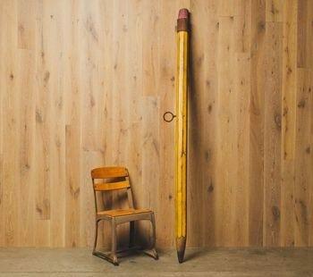 giant vintage pencil