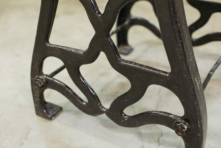 art nouveau cast iron base