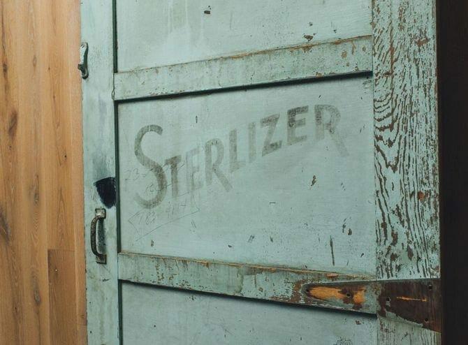 vintage sterlizer door