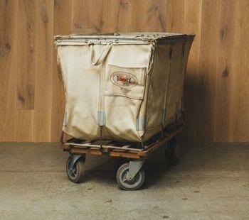 vintage laundry cart