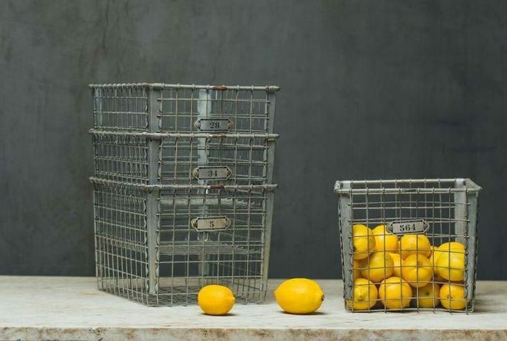 Vintage Wire Locker Baskets
