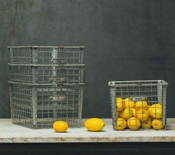 vintage wire locker baskets