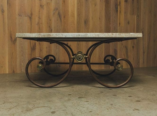 19th-century french butcher table