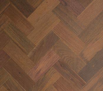 resawn ipe herringbone flooring