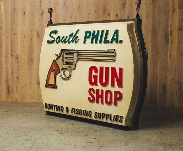 south philly gun shop sign