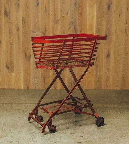 vintage wheeled cart
