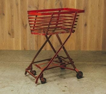 vintage wheeled cart