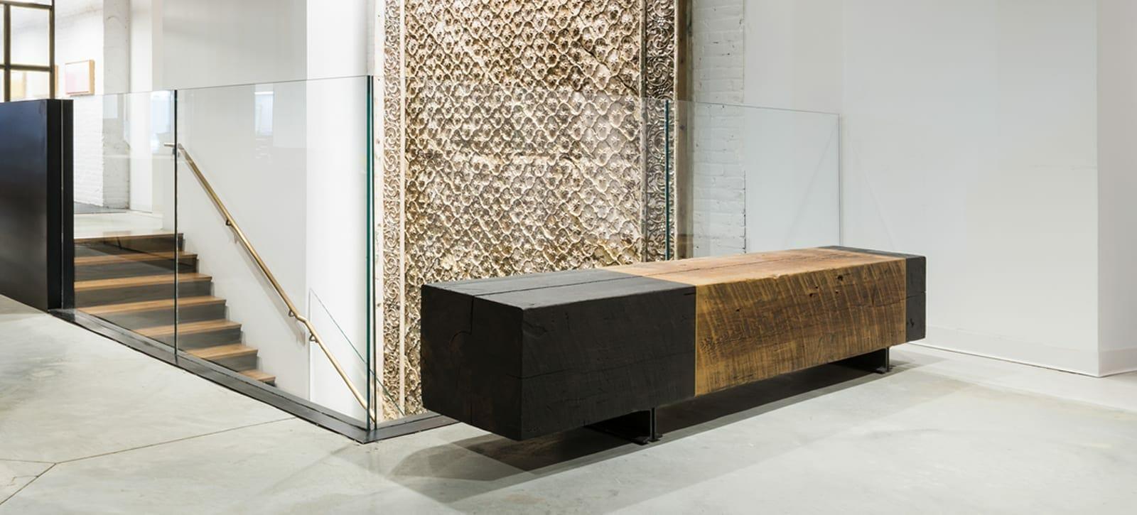 empire reclaimed heart pine bench