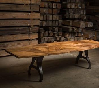 english walnut mosaic table