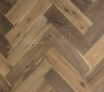 mixed oak herringbone flooring