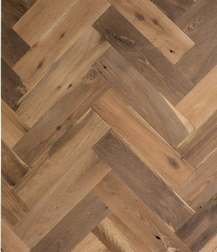 mixed oak herringbone flooring