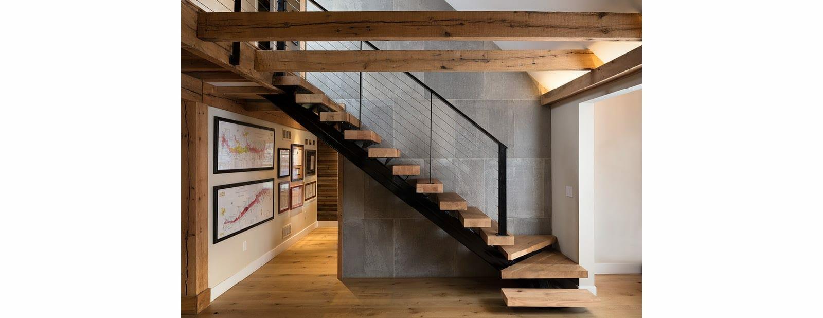 berwyn residence beams flooring treads