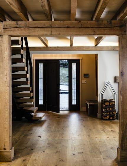 berwyn residence flooring and beams