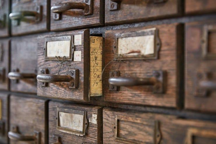 vintage hardware cabinet