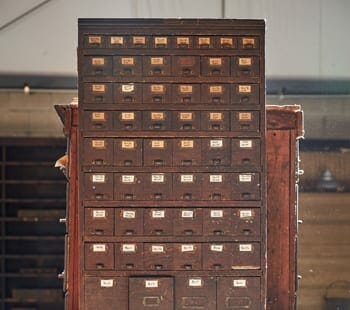 small vintage hardware cabinet