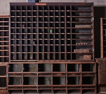 vintage hardware cubby cabinet