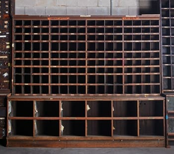 vintage hardware large cubby cabinet