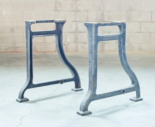 vintage cast iron base