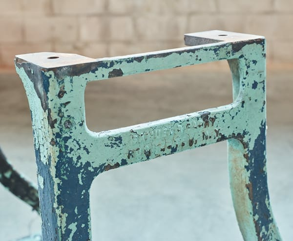 patinaed cast iron base