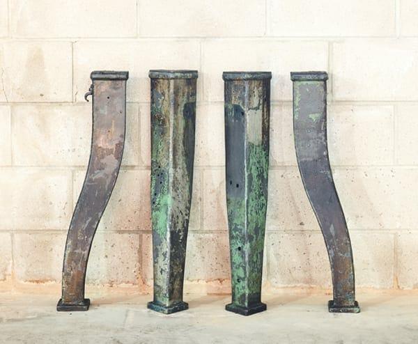 large vintage cast iron base