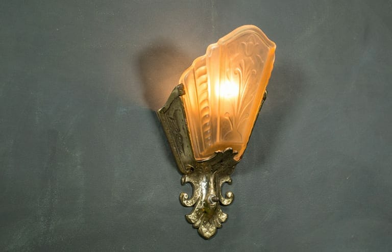 amber sconce