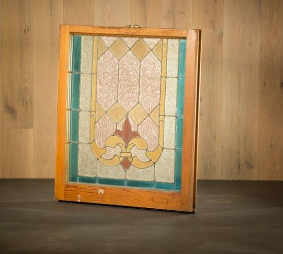 fleur de lis stained glass window