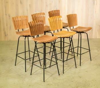 arthur umanoff-style bar stools