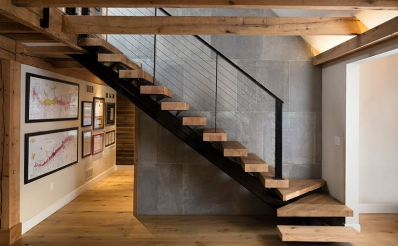 rustic oak stair treads