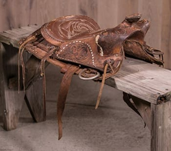 vintage tooled saddle