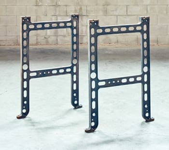 perforated industrial cast iron base