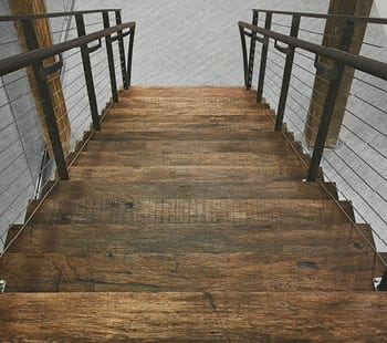 reclaimed jatoba stair treads