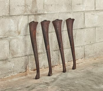 evelyn industrial cast iron legs