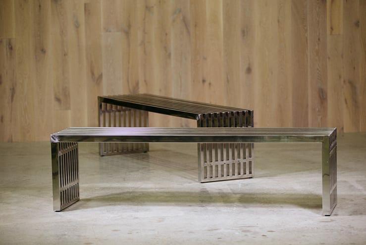 milo baughman midcentury bench