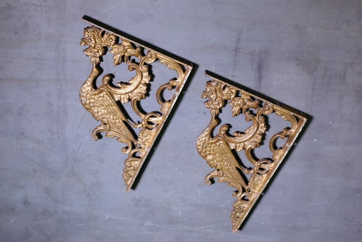peacock shelf brackets
