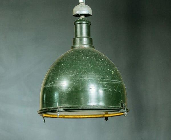 Deep Bowl Green Industrial Light