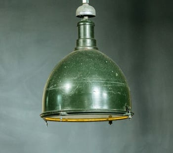 Deep Bowl Green Industrial Light