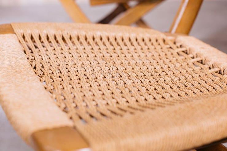 Hans Wegner Folding Rush Chairs