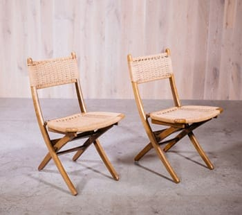 Hans Wegner Folding Rush Chairs