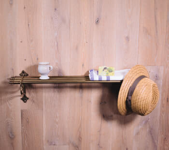 large vintage brass towel rack