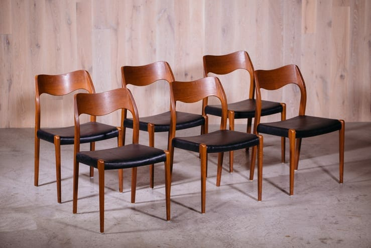 Niels Otto Moller Dining Chairs ...